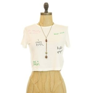 Topshop Nordstrom Embroidered Scribble Tee